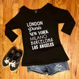 Rue 21 - London Paris New York Shirt
